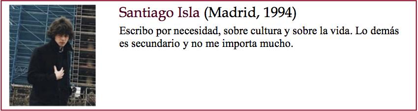 Santiago Isla bio